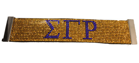 Sigma Gamma Rho Sorority Bling Bracelet- Yellow