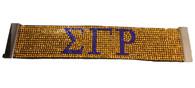 Sigma Gamma Rho Sorority Bling Bracelet- Yellow