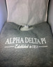 Alpha Delta Pi ADPI Sorority Crewneck Sweatshirt- Athletic Heather Gray