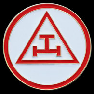 Mason Masonic Triple Tau Lapel Pin