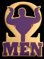 Omega Psi Phi Fraternity Omega Man Lapel Pin