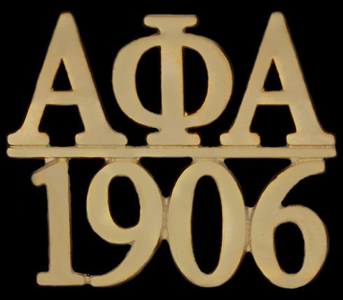 Alpha Phi Alpha Fraternity Chapter Bar Lapel Pin-Gold