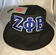 Zeta Phi Beta Sorority Founding Year Floppy Mesh Bucket Hat-Black-Front