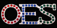 Order of the Eastern Star OES Crystal Pin-Organization Colors