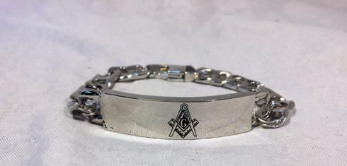 Mason Masonic Bracelet- Silver