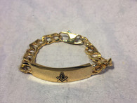 Mason Masonic Bracelet- Gold