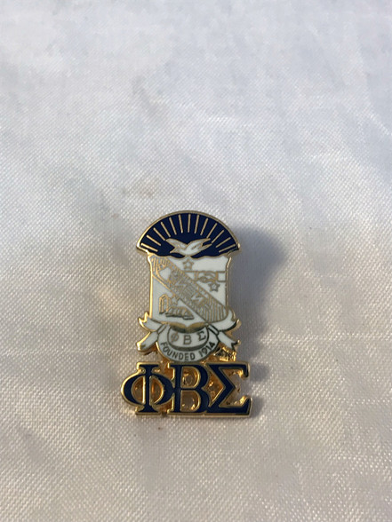 Phi Beta Sigma Fraternity Crest with 3 Greek Letter Lapel Pin