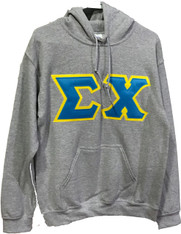 Sigma Chi Fraternity Hoodie- Gray