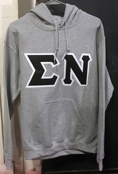 Sigma Nu Fraternity Hoodie- Gray