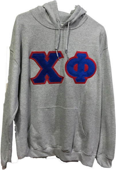 Chi Phi Fraternity Hoodie- Gray