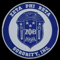 Zeta Phi Beta Sorority Crest Car Emblem