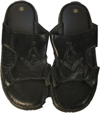 Mason Masonic Leather Slides
