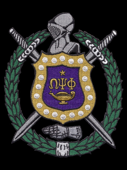 Omega Psi Phi Fraternity Crest Emblem- 10.5 Inches