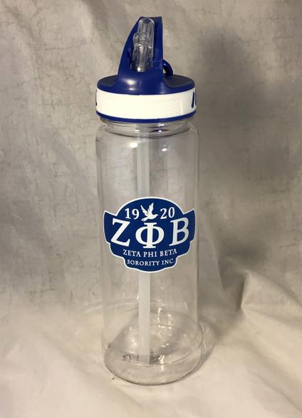 Zeta Phi Beta Sorority Water Bottle