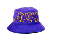 Omega Psi Phi Fraternity Founding Year Floppy Mesh Bucket Hat
