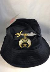 Shriner Floppy Mesh Bucket Hat-Black