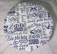 Zeta Phi Beta Sorority Shower Cap- White