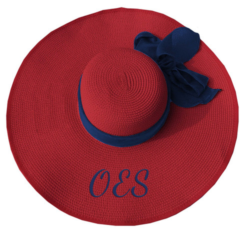 Order of the Eastern Star OES Floppy Hat- Red