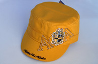 Alpha Phi Alpha Fraternity Captain's Hat-Three Greek Letters- Gold