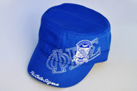 Phi Beta Sigma Fraternity Captain's Hat- Three Greek Letters- Blue