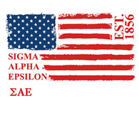 Sigma Alpha Epsilon SAE Fraternity Comfort Colors Shirt- American Flag
