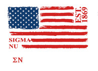 Sigma Nu Fraternity Comfort Colors Shirt- American Flag
