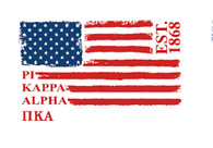 Pi Kappa Alpha PIKE Fraternity Comfort Colors Shirt- American Flag