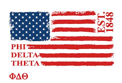 Phi Delta Theta Fraternity Comfort Colors Shirt- American Flag