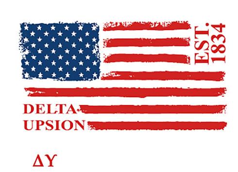 Delta Upsilon Fraternity Comfort Colors Shirt- American Flag