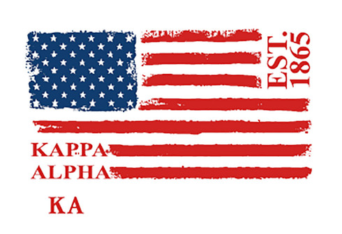 Kappa Alpha Fraternity Comfort Colors Shirt- American Flag