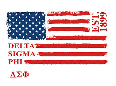 Delta Sigma Phi Fraternity Comfort Colors Shirt- American Flag