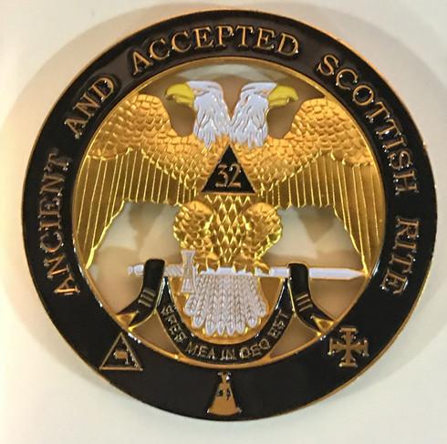 Mason Masonic 32nd Degree Cut Out Car Emblem