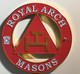 Mason Masonic Triple Tau Cut Out Car Emblem