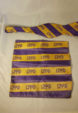 Omega Psi Phi Fraternity Bow Tie and Pocket Square Set