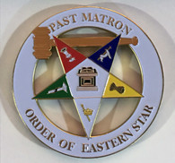 Order of the Eastern Star OES Past Worthy Matron Cut Out Car Emblem
