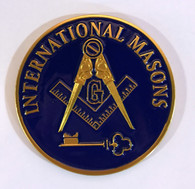 International Mason Masonic Auto Emblem