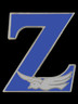 Zeta Phi Beta Sorority Z with Dove Lapel Pin