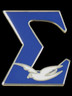 Phi Beta Sigma Fraternity Sigma with Dove Lapel Pin