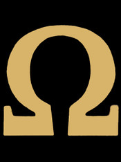 Omega Psi Phi Fraternity Pin- Omega- Gold