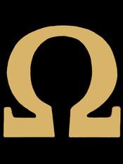 Omega Psi Phi Fraternity Pin- Omega- Gold