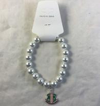 Alpha Kappa Alpha AKA Sorority Pearl Bracelet