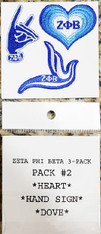 Zeta Phi Beta Sorority Peel and Stick Patches- Pack #2