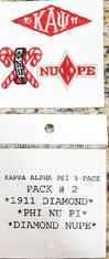 Kappa Alpha Psi Fraternity Peel and Stick Patches- Pack #2