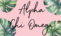 Alpha Chi Omega Sorority Flag- Palm