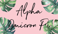 Alpha Omicron Pi AOPI Sorority Flag- Palm
