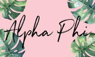 Alpha Phi Sorority Flag- Palm