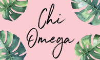 Chi Omega Sorority Flag- Palm