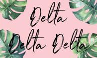 Delta Delta Delta Tri-Delta Sorority Flag- Palm