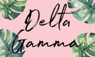 Delta Gamma Sorority Flag- Palm