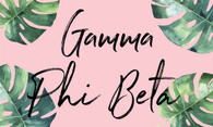 Gamma Phi Beta Sorority Flag- Palm